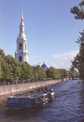 Kryukov Canal. Belfry of the St.Nicholas' Naval Cathedral
