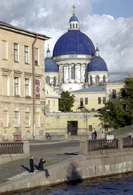 Kryukov Canal. View to the Izmaylovsky Trinity Cathedral